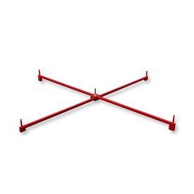 Easyfix Ständersystem Scherenständer 200cm rot mit 5 Dornen