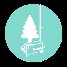 Easyfix Skizze Tannenbaum auf Bohrmaschine
