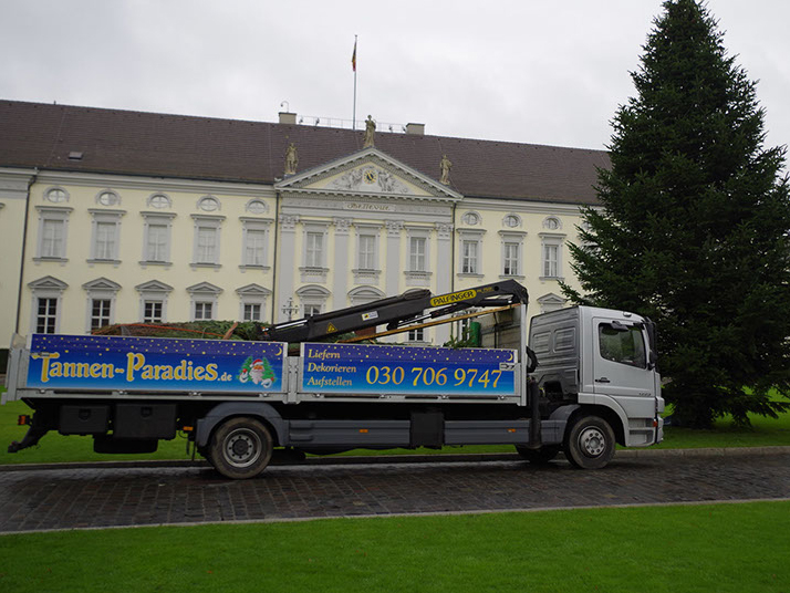Tannen-Paradies LKW-Lieferung