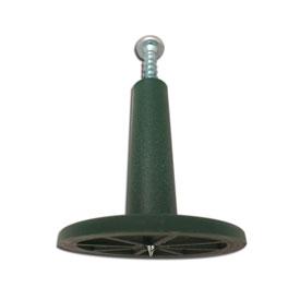 Easyfix Kunststoffdorn Schraube eingedreht Unterseite sichtbar
